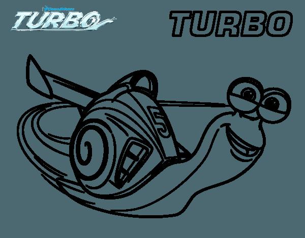Dibujo De Turbo Para Colorear