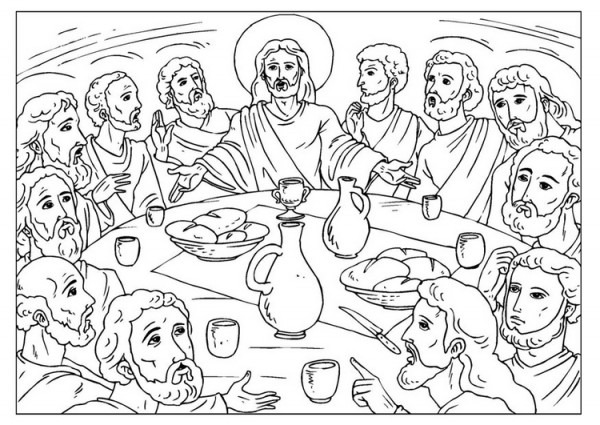 Dibujos De La Ultima Cena De Jesús Para Pintar
