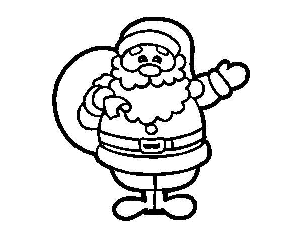 Imágenes Para Colorear De Papa Noel Para Navidad