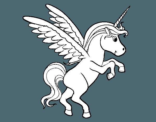 Dibujo De Unicornio Joven Para Colorear
