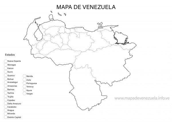 Dibujos De Mapa De Venezuela Para Descargar Y Colorear