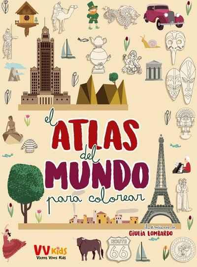Pasajes Librería Internacional  Atlas Del Mundo Para Colorear