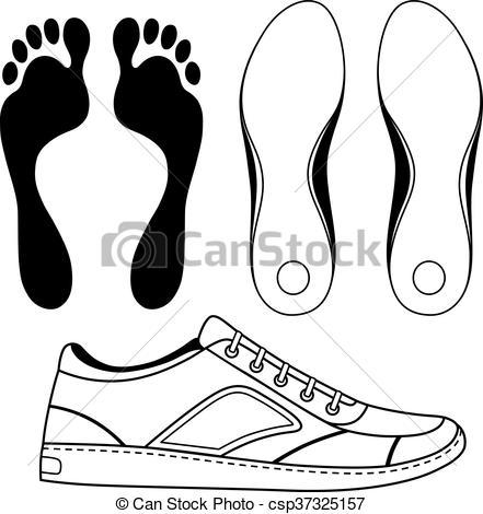 Y, Contorneado, Suela, Zapato Negro, Zapatillas  Y, Contorneado