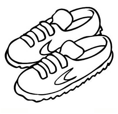 Para Colorear Colorear Dibujos Zapatillas Zapatillas Para
