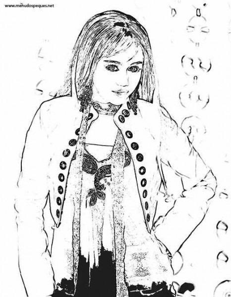 Colorear Hannah Montana 03