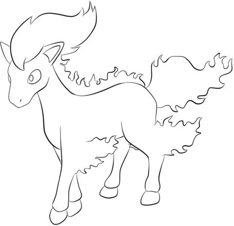 Dibujo De Ponyta Para Colorear