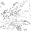 Europa Mapa Para Colorear