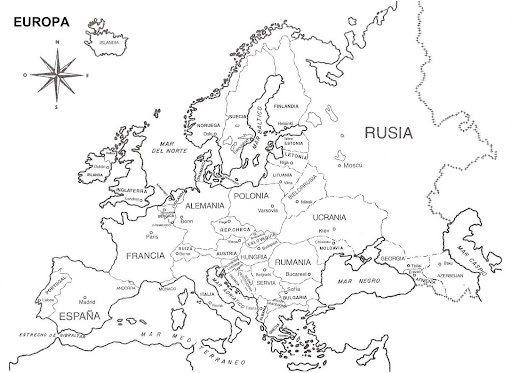 Mapas De  Mapas Para Colorear