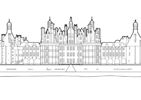 Castillo Del Loira  Dibujo Para Colorear E Imprimir