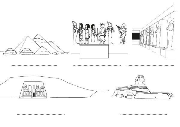Egipto  Dibujos Para Colorear E Imprimir
