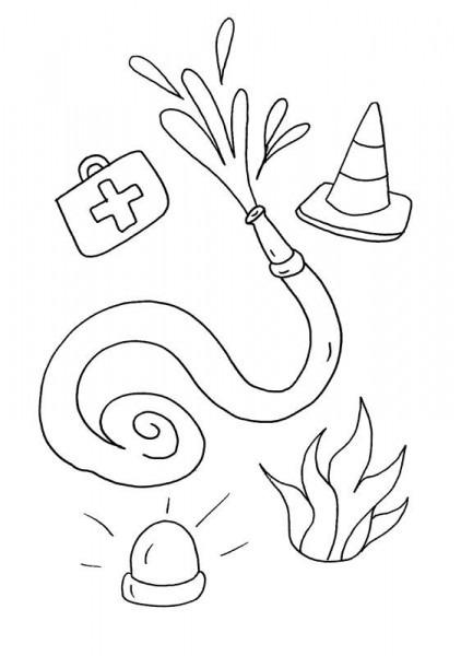Utensilios De Bomberos  Dibujo Para Colorear E Imprimir