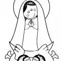 Imagen De Virgen Maria Para Colorear