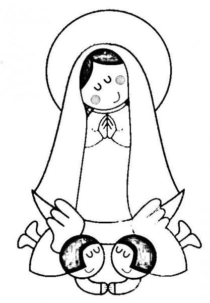 Resultado De Imagen Para Plantillas De Virgen Maria Para Colorear