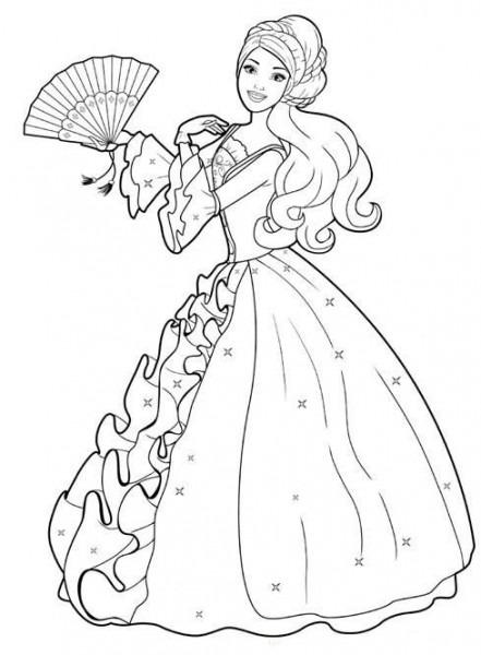 Barbie Princesa Dibujos Para Colorear Archivos