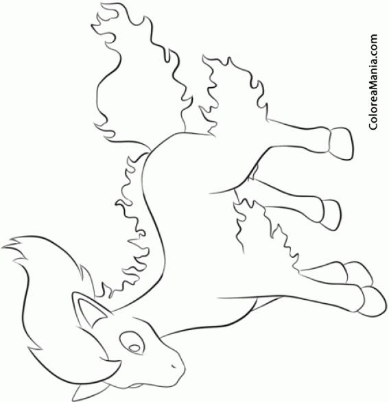 Colorear Ponyta 2 (pokemon), Dibujo Para Colorear Gratis