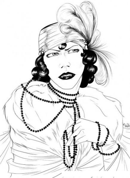 Dibujo De Mujer Vampiresa Para Pintar Y Colorear Gitana Con