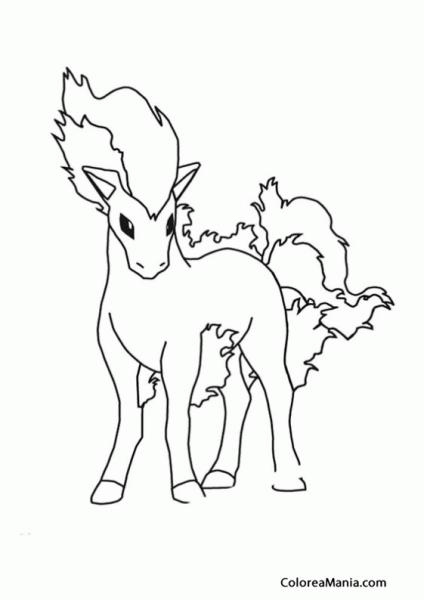 Colorear Pokemon Ponyta (pokemon), Dibujo Para Colorear Gratis