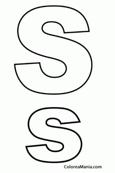 Colorear Letra S, S (abecedarios), Dibujo Para Colorear Gratis