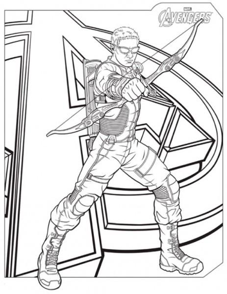 Los Vengadores , Dibujos Para Imprimir Y Colorear Lamina 12