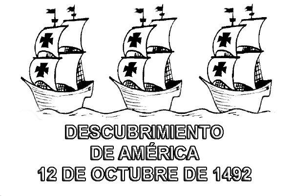 Dibujos Para Pintar Del Día Del Descubrimiento De América