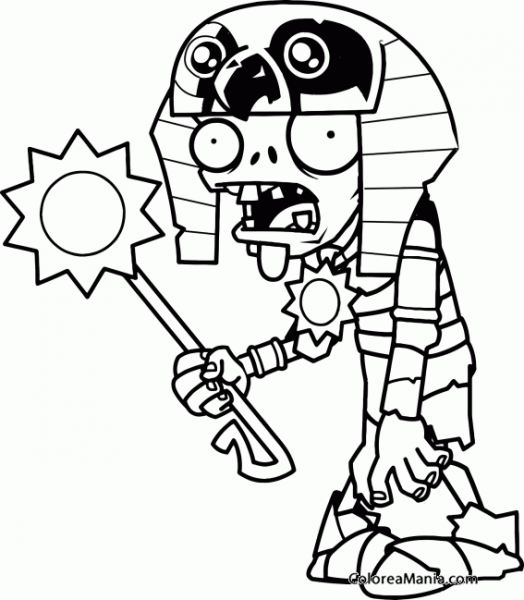 Colorear Plantas Y Zombies (plants Vs Zombies), Dibujo Para