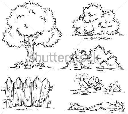 Arbustos Para Colorear 2