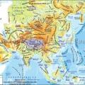 Mapa Fisico De Asia Para Colorear