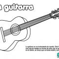 Imagen De Una Guitarra Para Colorear