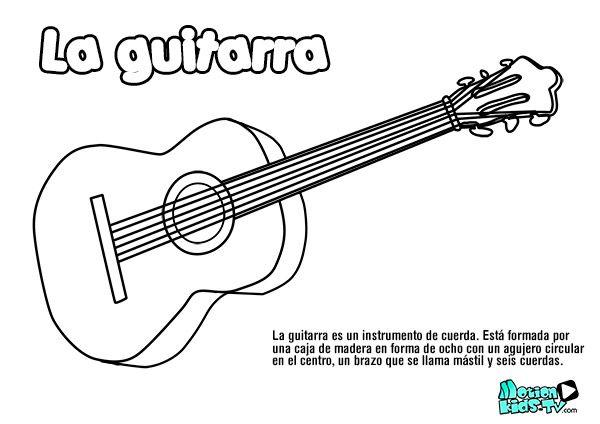 Resultado De Imagen Para Dibujo Para Colorear De Guitar