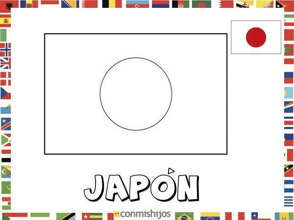 Bandera De Japón  Dibujos De Banderas Para Pintar
