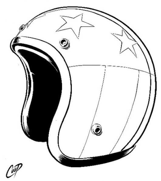 Casco De Moto Para Pintar Y Colorear