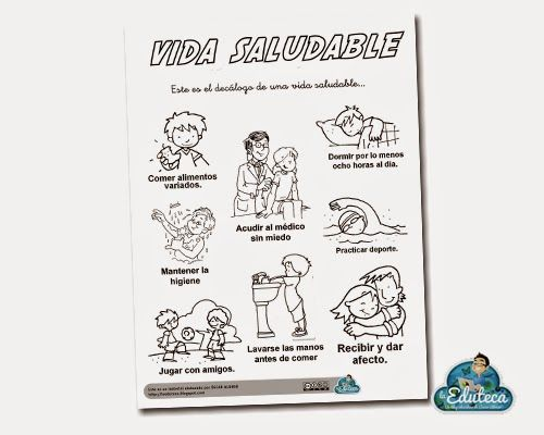 Resultado De Imagen De Habitos De Vida Saludable Dibujo