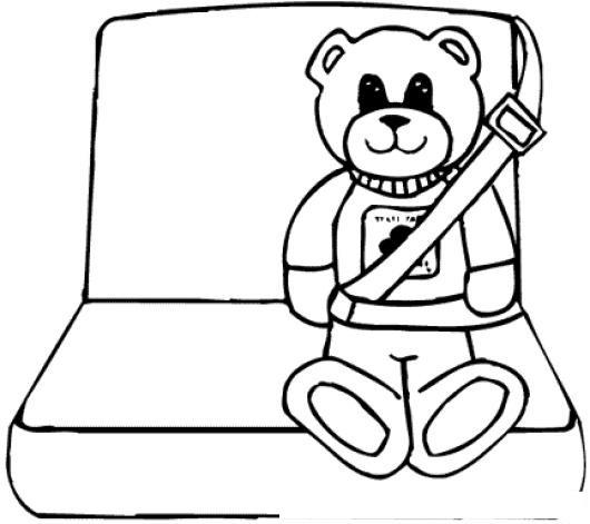 Cinturones De Seguridad Dibujo De Osito Con Cinturon De Seguridad