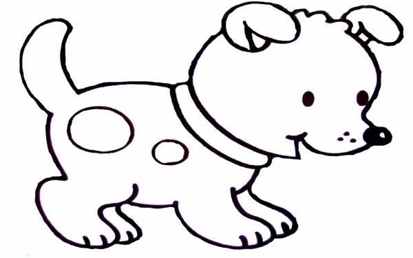 Dibujos De Perros Cachorros Para Colorear