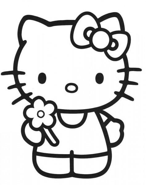 Hello Kitty , Dibujos Para Imprimir Y Colorear Lamina 1
