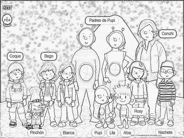 Colorear Familia Inglés