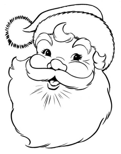 Dibujos Navideños De Papa Noel Para Colorear E Imprimir