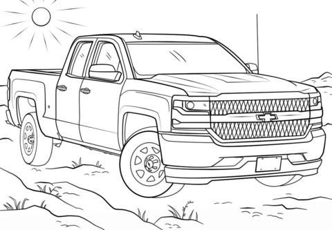Dibujo De Toyota Tundra Para Colorear