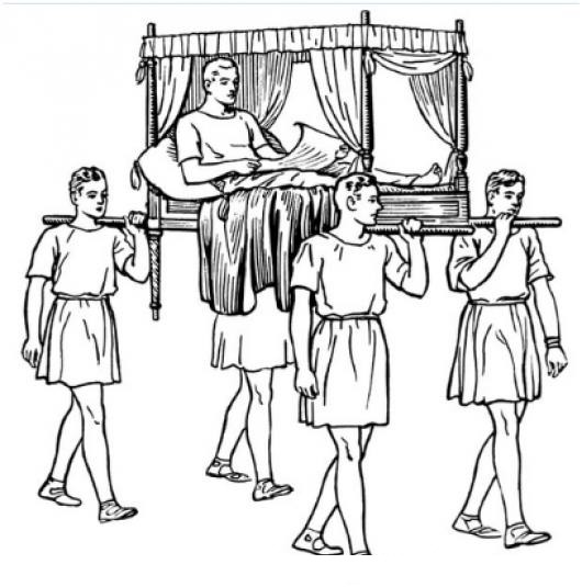 Dibujo De Esclavos Cargando A Un Principe Para Pintar Y Colorear
