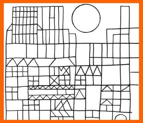 Castillo De Paul Klee Para Colorear
