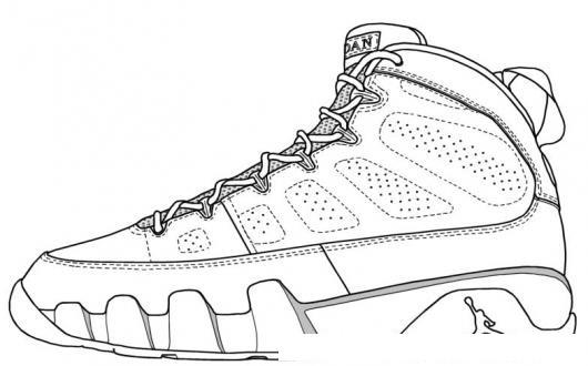 Dibujo De Tenis Jordan Para Colorear