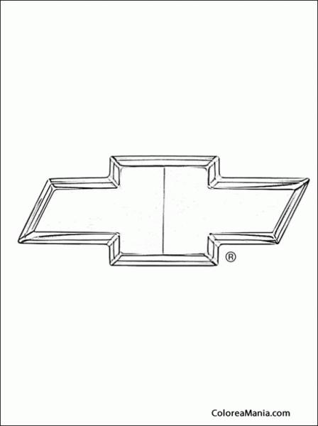 Colorear Chevrolet (logos Empresas Automovilísticas), Dibujo Para
