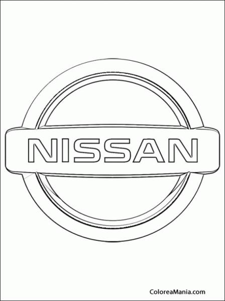 Colorear Nissan (logos Empresas Automovilísticas), Dibujo Para