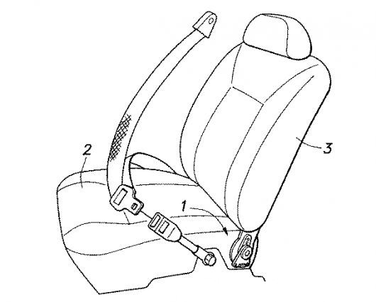 Dibujo De Asiento Vehicular Con Cinturon De Seguridad Para Pintar