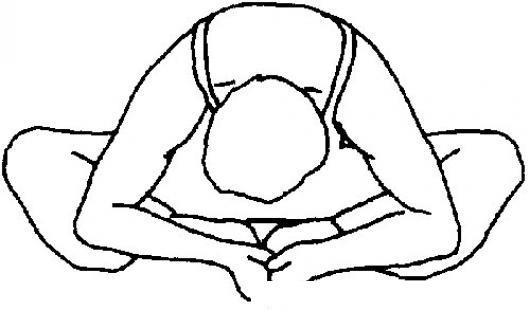 Estiramiento De Yoga Para Pintar Y Colorear