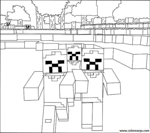 Dibujos Minecraft Para Colorear
