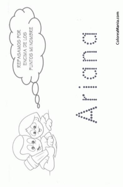 Colorear Escribo Mi Nombre  Ariana (reseguir Tu Nombre), Dibujo