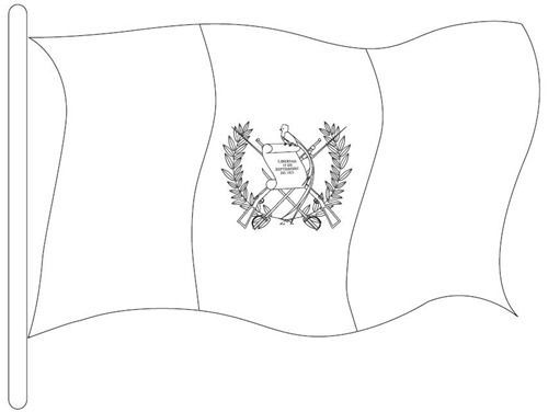 Guatemala Flag Black And White In 2019
