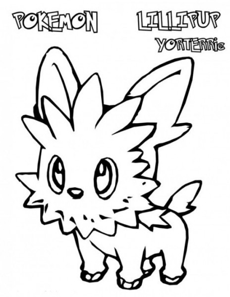 Pokemon Lillipup Coloring Pages