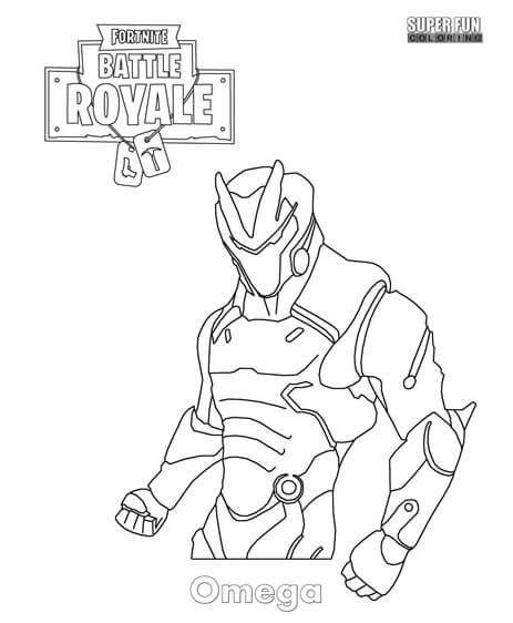 Omega Skin Fortnite Y Dibujos Para Colorear E1542380413263